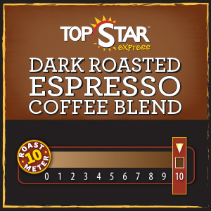 <strong>Dark Roasted Espresso Coffee Blend</strong> <br />