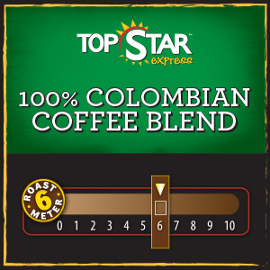 <strong>100% Colombian Coffee Blend</strong> <br /> Hand-picked at the peak of ripeness and perfectly roasted to yield a full bodied cup of coffee with a rich, sweet aroma and smooth finish.
