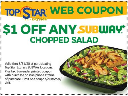 Subway Salads $1 Off
