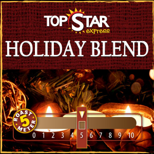 <strong>Holiday Coffee Blend</strong><br /> Creamy vanilla coffee with a hint of nutty sweetness and coconut flavor, dusted with cocoa powder now available for a limited time - a holiday must have!