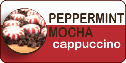 <strong>Peppermint Mocha Cappuccino</strong><br /> This holiday favorite has a rich, minty aroma with blends of premium coffee, smooth cocoa and peppermint flavor. It's an indulgent treat your senses won't forget.