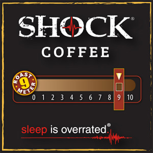 <strong>Shock Coffee Blend</strong> <br /> When you are looking for a little something more potent, here's an option with othing but premium beans naturally loaded with up to 50% more caffeine than your average cup of coffee.